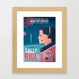 Pioneering Female Adventurers #03 - Sally Ride Framed Art Print