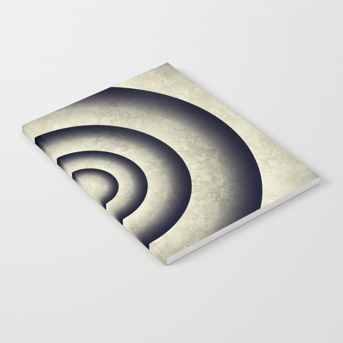 Minimal grunge 3D abstraction Notebook