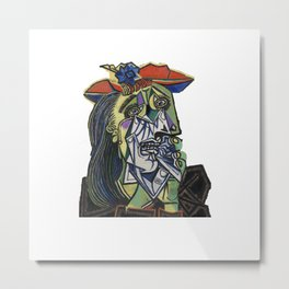 picasso weeping woman Metal Print