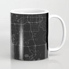 Orlando Map - Black and White (Dark) Coffee Mug