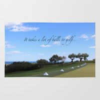 golf Area & Throw Rugs featuring Golf by Rebecca Bear