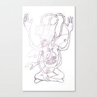 sagan Canvas Prints featuring Hail Sagan by Paul Conrad