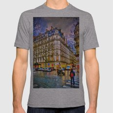 Rainy evening in Paris, France Mens Fitted Tee Athletic Grey SMALL