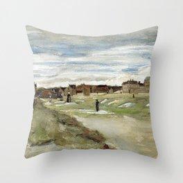 1882-Vincent van Gogh-Bleaching Ground at Scheveningen-32x54 Throw Pillow