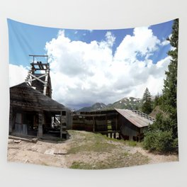 Exploring the Longfellow Mine of the Gold Rush - A Series, No. 1of 9 Wall Tapestry