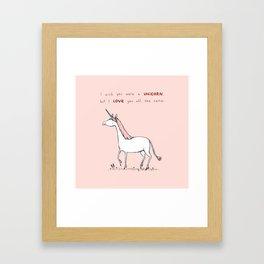 I Wish You Were A Unicorn Framed Art Print