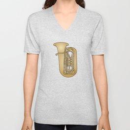 Tuba brass Unisex V-Neck
