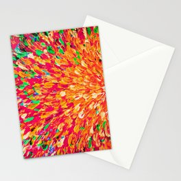 NEON SPLASH - WOW Intense Dash of Cheerful Color, Bold Water Waves Nature Lovers Modern Abstract  Stationery Cards
