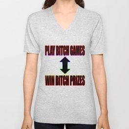 Play B*tch Games Unisex V-Neck