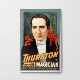 Vintage poster - Thurston Metal Print