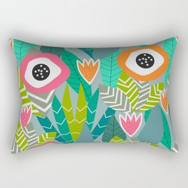 Abstract multicolored jungle Rectangular Pillow