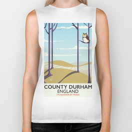 County Durham,England vintage travel poster Biker Tank