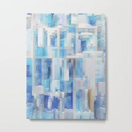 Abstract blue pattern 2 Metal Print