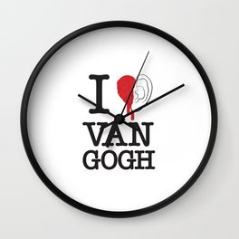 I love Van Gogh Wall Clock