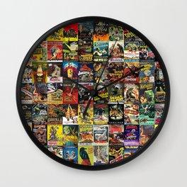 Monster Movies Wall Clock
