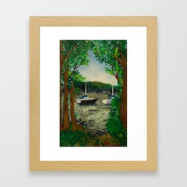 Lake Landscape Framed Art Print