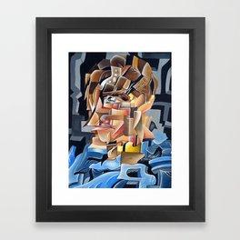 Abstract Portrait Framed Art Print