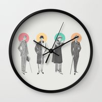 classy Wall Clocks featuring Classy by Zeke Tucker