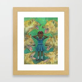"""""""Little Girls Cannot Fly"""" they said Framed Art Print"""