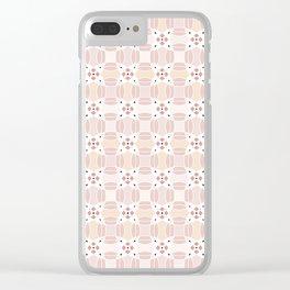 Circular Pink Clear iPhone Case