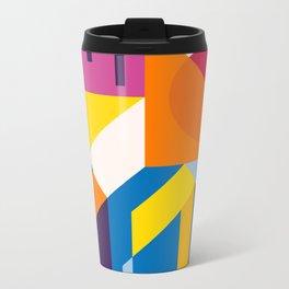 Abstract modern geometric background. Composition 9 Metal Travel Mug