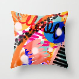 Grell 002 / A Composition Of Abstract Graffiti Shapes Throw Pillow