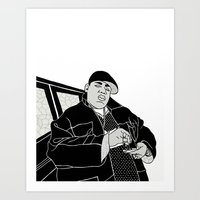 notorious big Art Prints featuring Notorious by madebytraceyleigh