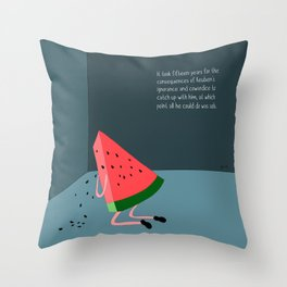 regret never misses a delivery. Throw Pillow