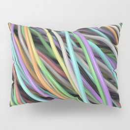 Twisted colorful wires Pillow Sham