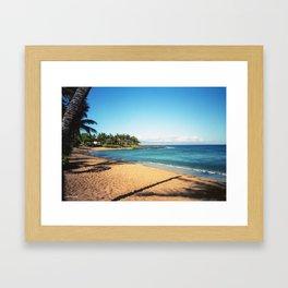 Napili Bay Beach Framed Art Print