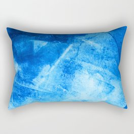 Sweater Weather: a pretty, minimal abstract piece in blues by Alyssa Hamilton Art Rectangular Pillow