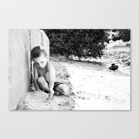 caleb troy Canvas Prints featuring caleb by jessiedawnbernache