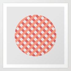 striped circle I Art Print