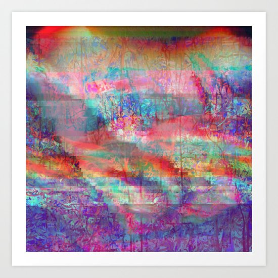 23-18-45 (Acid Rain Bed Glitch) Art Print