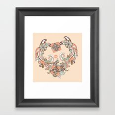 out heart Framed Art Print