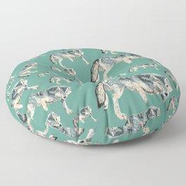 Totem Polar wolf Floor Pillow