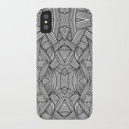 M zigzag iPhone Case
