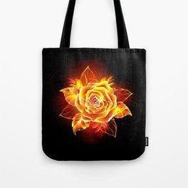 Blooming Fire Rose Tote Bag