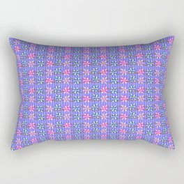 Violet Stripes with Flowers Rectangular Pillow