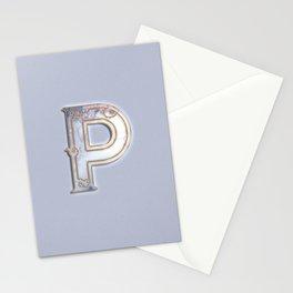 P letter monogram Stationery Cards