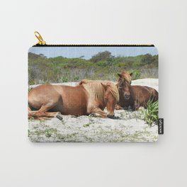 Wild Ponies of Assateague Having a Rest Carry-All Pouch