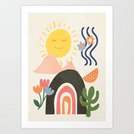 Abstract Summer 7 Art Print