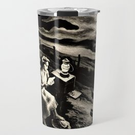 Classical Masterpiece 'Letter from Overseas' by Thomas Hart Benton Travel Mug