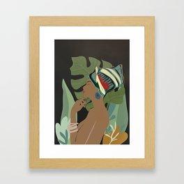 Woman with a Tuban Framed Art Print