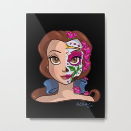 Sugar Skull Series: Beautiful Maiden Metal Print
