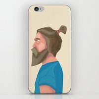 beard iPhone & iPod Skins featuring Beard by L P C