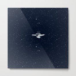 Star trek Star ship Enterprise NCC-1701 Metal Print