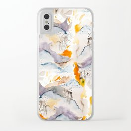 marmalade mountains Clear iPhone Case