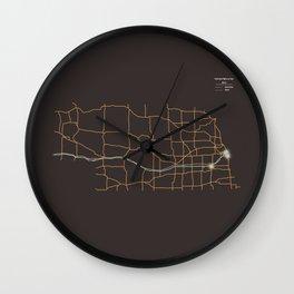 Nebraska Highways Wall Clock