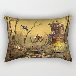 The Exterminator and His Dog Rectangular Pillow